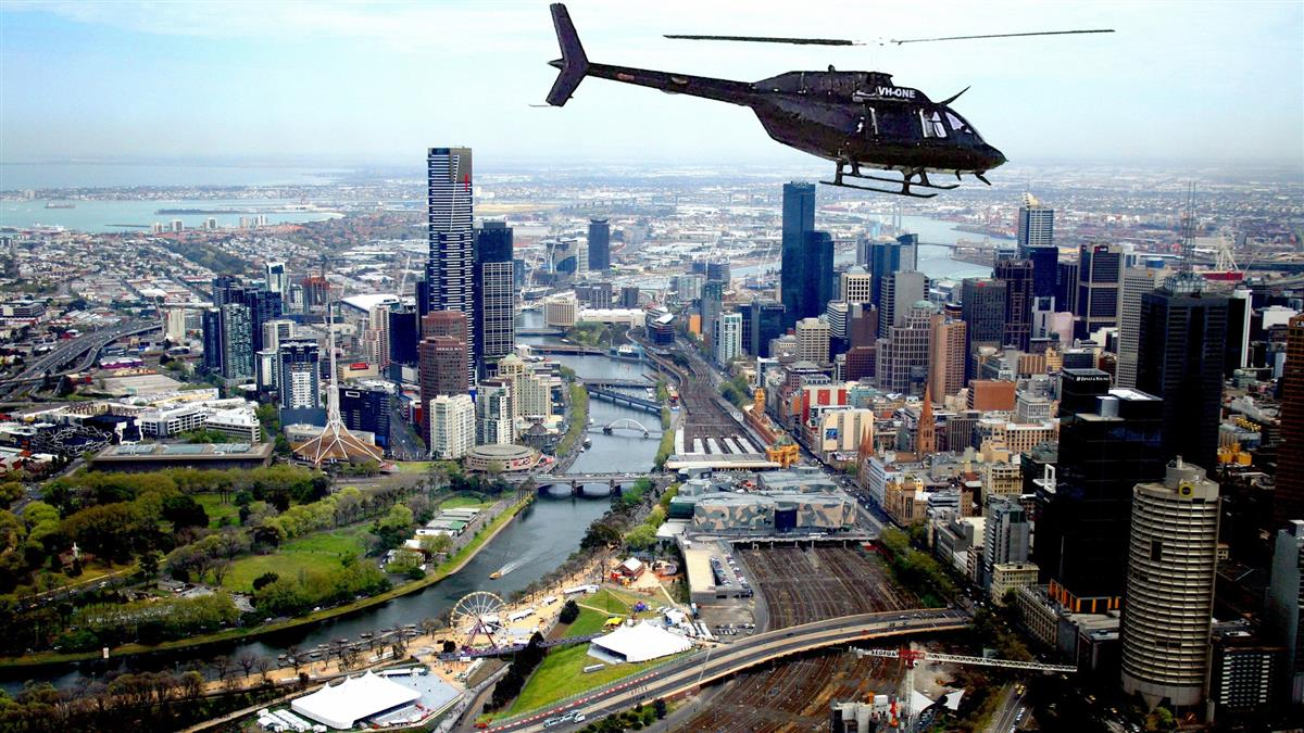 helicopters over melbourne